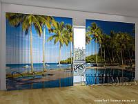 Фотоштора ПАНОРАМА 3D Аллея пальм, 2,7х5,0 м, арт. FRA-50 001096