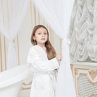 Халат детский махровый с кружевом для девочки MAYA 9-10 лет.