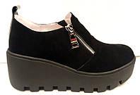 Туфли женские замшевые на высокой подошве Uk0192