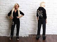 Спортивный костюм женский велюр Черный