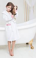 Халат детский махровый с капюшоном для девочки SOFI. 12-24 мес.