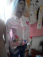 "Рубашка ""бренд"" цветы"