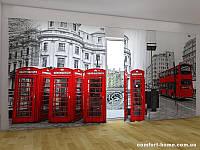 Фотоштора ПАНОРАМА 3D Лондонский автобус 2,7х5,0 м, арт. FRA-50000645
