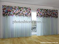 Фотоштора ПАНОРАМА 3D Ламбрекены из цветов. Сказка, 2,7х5,0 м, арт. FRA-50000674
