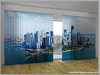 Фотоштора ПАНОРАМА 3D Нью-Йорк вид с облаков, 2,7х5,0 м, арт. FRA-50000695