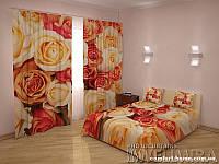ФотоКомплект Совершенство, шторы + покрывало + наволочки, арт. FRA-60000915
