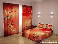 ФотоКомплект Искушение, шторы + покрывало + наволочки, арт. FRA-60000916