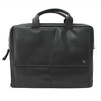 Мужская кожаная сумка с отделением для ноутбука Visconti черный