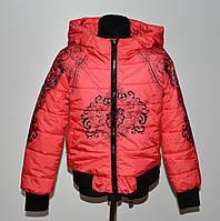 Деми куртка на девочку 6-10 лет