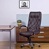 Кресло руководителя Cuba Steel Chrome (офисное , для дома, компьютерное) Новый Стиль