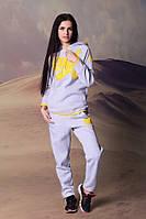 Модный серый спортивный женский костюм  Арт-5022/44