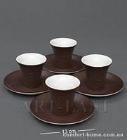 """FD-20 Кофейный н-р на 4 перс. """"Колумбия для двоих"""" коричневый"""