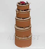 "WB-01 Комплект круглых коробок из 5шт ""Три розы"""