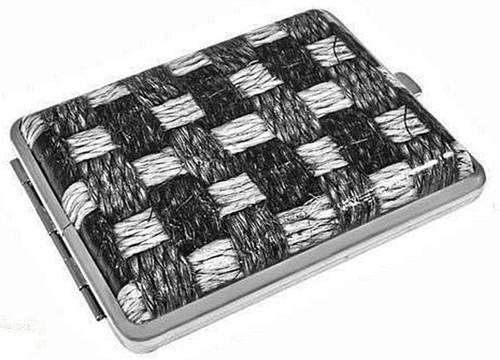 Портсигар кожаный с плетением S.QUIRE AB02-3156А