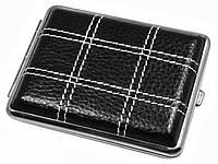 Современный кожаный портсигар S.QUIRE AB02-3175 черный