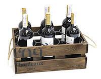 """Подставка для вина на 6 бутылок """"Ящик"""""""