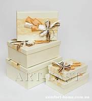 """WB-07 Комплект прямоугольных коробок из 5шт """"Букет роз"""""""
