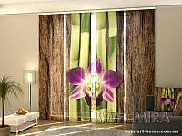 Панельная ФотоШтора Четыре веточки бамбука (4 шт. комплект)