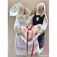 Мягкая игрушка - Свадебные зайки