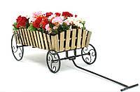 """Кованая подставка для цветов Кантри """"Телега"""""""