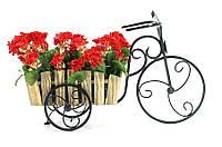 """Кованая подставка для цветов Кантри """"Велосипед малый 1"""""""