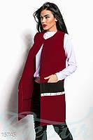 Кашемировый женский кардиган прямого силуэта без застежек с боковыми карманами