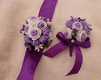 Набор оригинальных бутоньерок в любом цвете