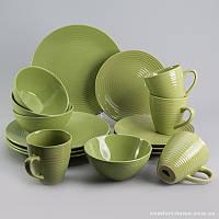 Набор посуды обеденный + чайный Арбуз из керамики 16 предметов, арт. EZ-2003