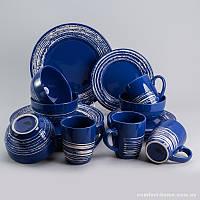 Набор посуды обеденный + чайный Бристоль из керамики 16 предметов, арт. EZ-2006
