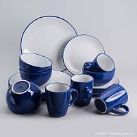 Набор посуды обеденный + чайный Инь-Янь из керамики 16 предметов, арт. EZ-2004