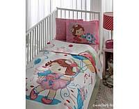 Постельное белье в кроватку TAC Strawberry Capcake baby с Пике 100х150 см