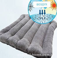 Подушка ортопедическая из гречневой лузги на стул 40х40 см