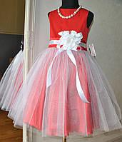 Нарядное платье для девочки красное