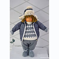 Малчик в зимней куртке Серый   49СМ  Германия