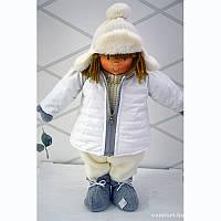 Малчик в зимней куртке Крем  49СМ Германия
