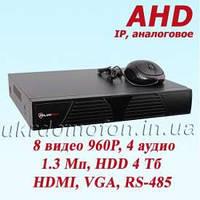 AHD Видеорегистратор 8 каналов DVR-6608T AHD PoliceCam