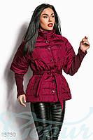 Ультрамодная стеганная женская куртка плащевка на синтепоне рукава три четверти с гетрами в комлекте