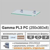 Полка стеклянная Commus PL3PC