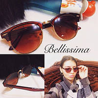 Женские стильные солнцезащитные очки с позолоченной оправой m-431695