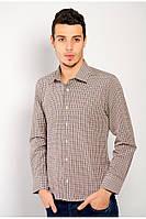 Классическая мужская рубашка Коричневая клетка