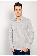 Классическая мужская рубашка Черная полоска