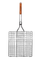 Решетка для гриля 40*30*2 см с деревянной ручкой СКАУТ 0707