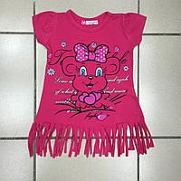 Детская одежда оптом Футболка для девочек оптом р.104-122