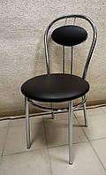 Стул для кухни, кафе Tiziano chrome V-3 шоколад