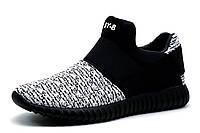 Кроссовки мужские Adidas Yeezy Boost 350, текстиль, бело-черные, р. 40 41 43, фото 1