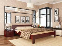 "Ліжко двоспальне ""Рената"", дерево (бук) / Кровать двухспальная деревяная ""Рената"", бук"