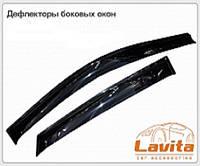 Дефлекторы окон (ветровики) на Мицубиси Паджеро-2 с 91-00 5-дверей (Китай) 4-штуки  клеющие.