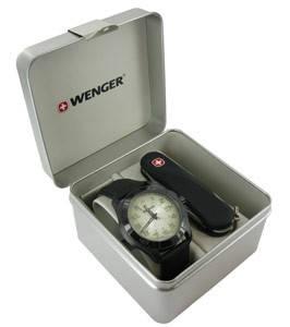 Превосходный набор часы и нож Wenger 70474 черный