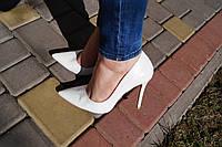 Туфли женские белые шпилька. Польша