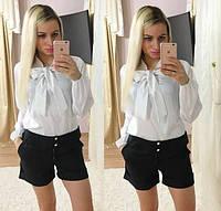 Женский красивый костюм: блуза и шорты
